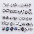 Mixed Charms Beads Fit Pandora Encantos de Prata Antigo do Metal de Liga de Zinco DIY Spacer Beads & Jewelry Making 40 pçs/lote B8759