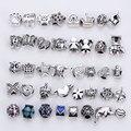 Vintage Silver Metal Beads fit Pandora Charms Fashion DIY Handmade European Beads & Jewelry Making 40 pieces/lot