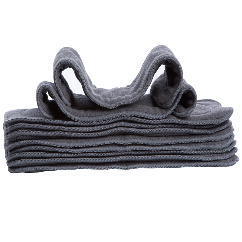 1 Pcs 5 Layer Bamboo Charcoal Insert Cloth Diaper Insert