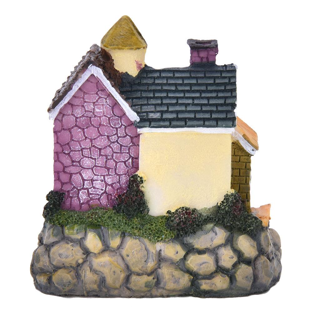 2 pcs Resin Mini Motorcycle Miniature House Fairy Garden Micro Landscape DSUK