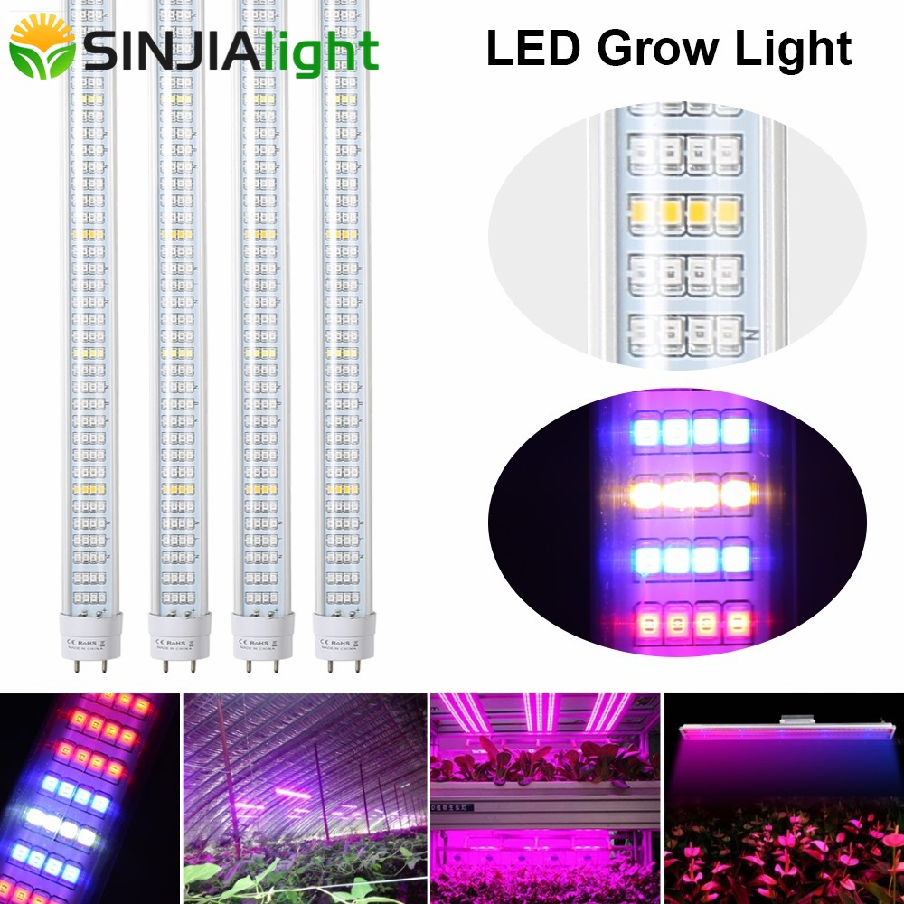 25pcs lot 1 2m T8 Tube LED Grow Lights Bar 600LEDs Plant Growing Lamp phytolamps for