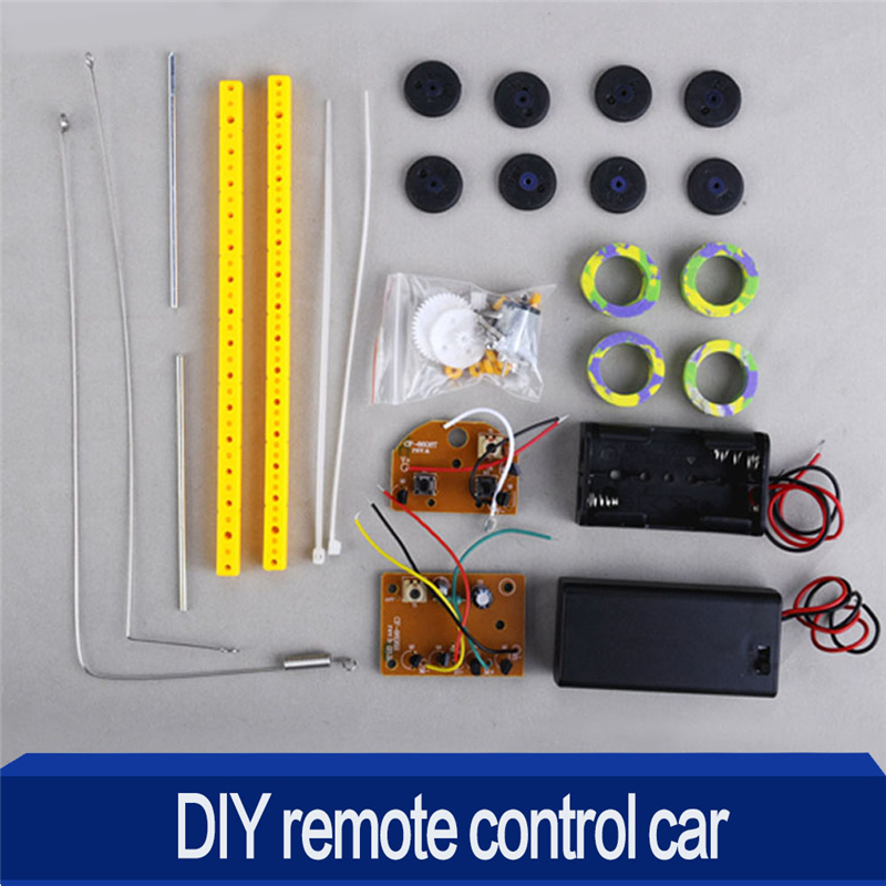 diy assembled two stroke remote control car puzzles toys model building toy for kid learning