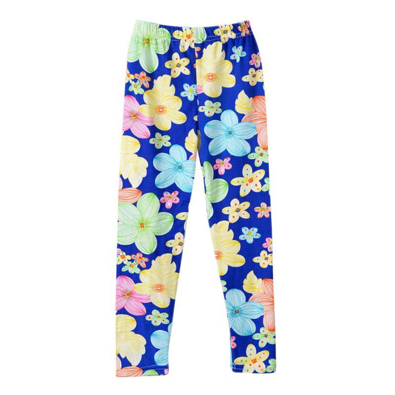 Einfach Frühling Mädchen Schmetterling Blumendruck Leggings Kinder Kinder Dünne Hosen