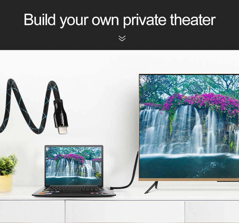 HDMI Конвенции HDMI кабель HDMI 2,0 кабель 4 k 3D 60FPS кабель для HD ЖК-ТВ ноутбука PS3 проектор морщинят для Apple ТВ xbox 360