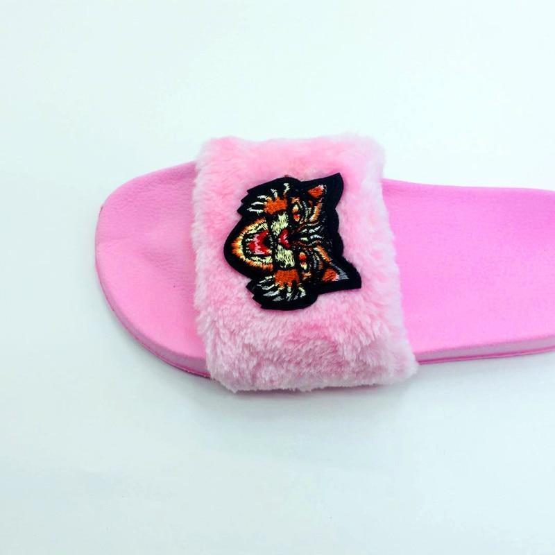 AoXunLong Neue Pelz Slides Flip-Flops Frauen Hausschuhe Bajan Terlik - Damenschuhe - Foto 5