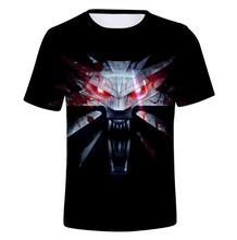 цены New The Witcher Summer 3D Hot Print T-shirt men round collar short sleeve T-shirt men fashion 3d t shirt short sleeves Clothes
