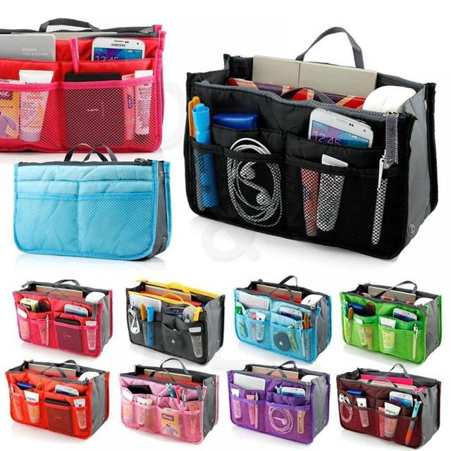 Makeup Bag Case Organizer Insert Bag Women Nylon Travel Handbag Large liner Lady Make up Cosmetic Bag Female Wash Toiletry Tote Cosmetic Bags