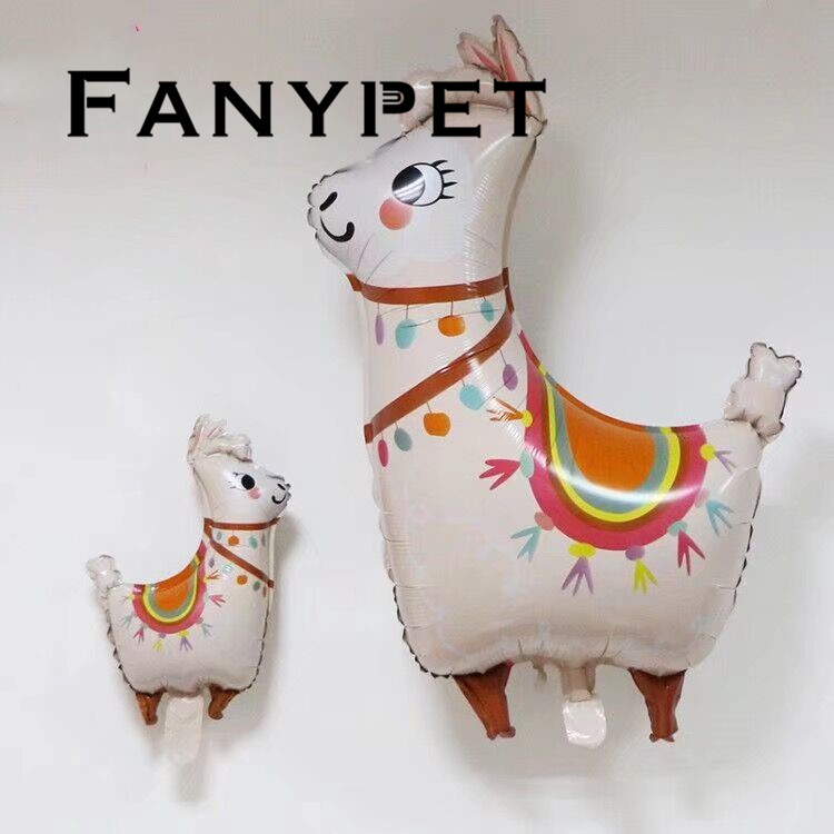 Mini Llama Unicorn Horse Foil Balloons 50pcs Cartoon