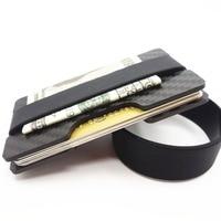 Posiadacz Karty Kredytowej Z Włókna węglowego Slim RFID Blokowanie Zespół Portfele Wizytowniki Trwała 3 K Węgla Case Purse Dla mężczyźni