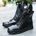 Новый Плоская Платформа Оуэн Мужская Обувь Модные Высокие Топ Корейский Стиль Хип-Хоп Спортивная Обувь Мужчины Лодки Обувь Zapatillas Хомбре