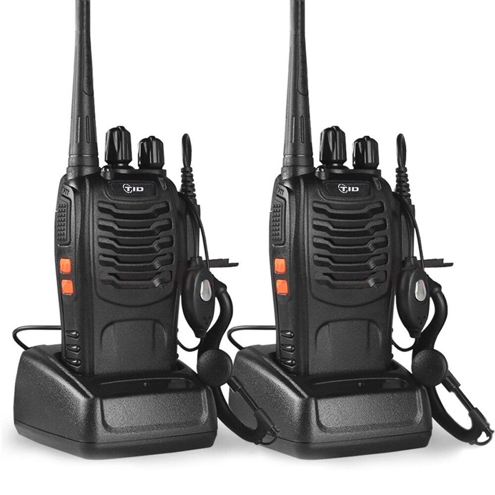 2 pcs TID TD-V2 Talkie Walkie De Poche 16CH UHF 400-470 mhz Portable Station de Radio CB Radio Communicateur Hf émetteur-récepteur telsiz