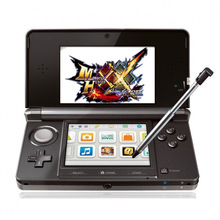 Handheld-Spiel 3,5-Zoll-Touchscreen-LCD-Displays Cross-Tastatur-System-Konsole Bundle Charger & Stylus für Nintendo 3DS