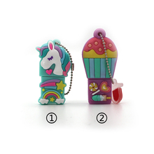New Style Cartoon Unicorn Pen Drive 64gb 32gb Usb Flash Drive Cute Horse Pendrive Real Capacity 4g 8g 16gb Memory Stick Hot Sale