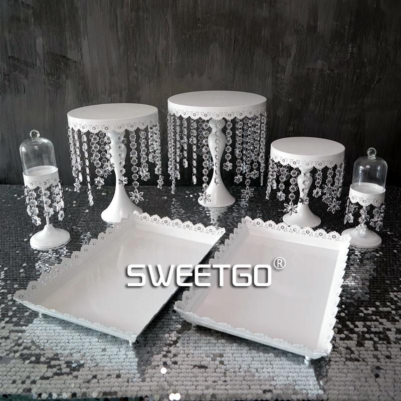 SWEETGO Σετ κέικ κρύσταλλο σετ 7 τεμαχίων - Κουζίνα, τραπεζαρία και μπαρ - Φωτογραφία 2