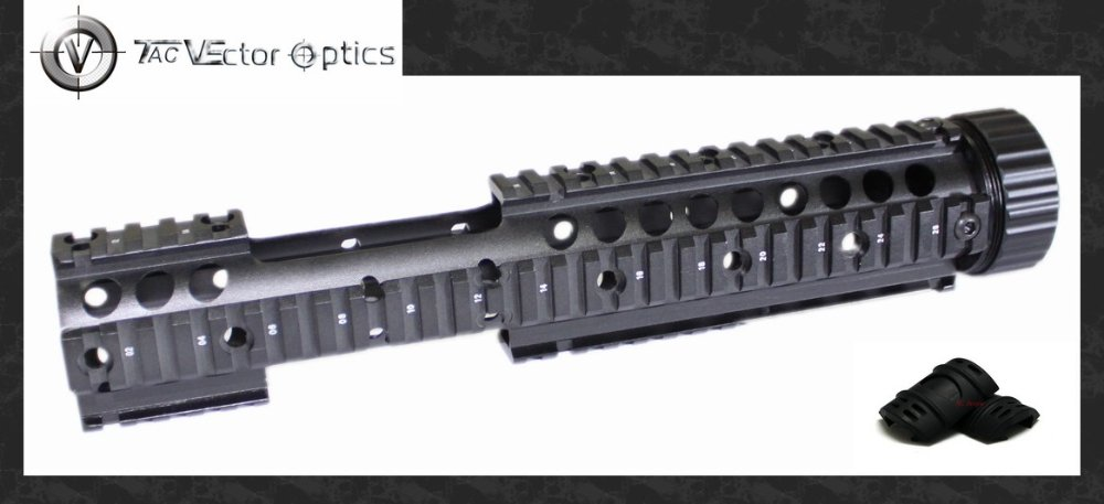 Free S&H Vector Optics 223/5.56mm 12'' Inch Handguard Quad Free Float Picatinny Rail Extension with 18x Guards PACK paintball airsoft 7 9 12 m16 m4 ar 15 quad rail handguard free float hunting accessorie 223 5 56 picatinny quad rail