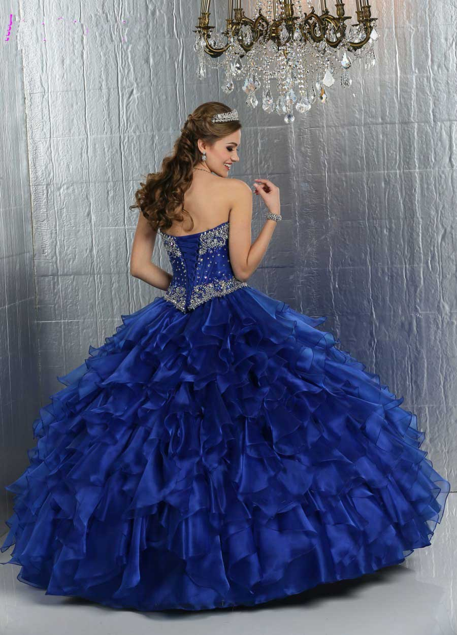Aliexpress.com : Buy Puffy Royal Blue Quinceanera Dresses ...