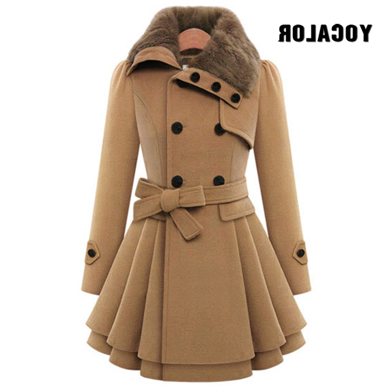 Vintage Woolen Double Buckle Trench Coats Female Autumn Coat Windbreaker Women Winter Gothic Casacos Feminino Cape Parka Cloak