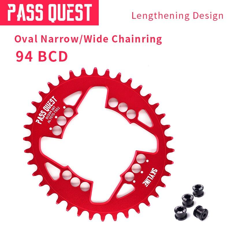PASS QUEST 94BCD plateau de vélo 32 T/34 T/36 T/38 T ovale vtt VTT roue de chaîne pour NX X1 GX manivelle pièces de vélo