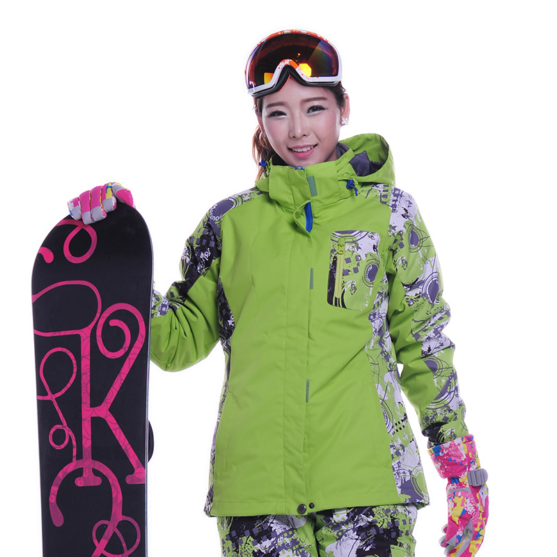 Prix pour Snowboard neige veste femme coloré 2015 de haute qualité chaud et imperméable coupe - vent vestes de ski vêtements de ski veste femmes