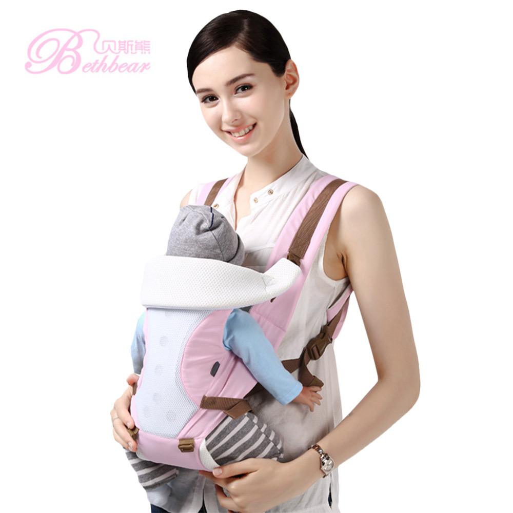 Beth Bear Comfortable Breathable Multifunction Carrier Infant Backpack 2 In 1 Design Baby 360 Hip Seat Waist Stool For Newborn 2018 new baby carrier 0 30 months breathable comfortable babies kids carrier infant backpack baby hip seat waist stool