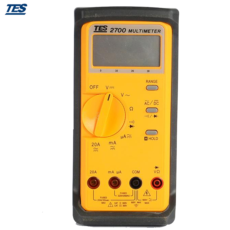 TES-2712 LCR Multimeter 3 1/2 LCD with Data-hold and Peak-hold Function
