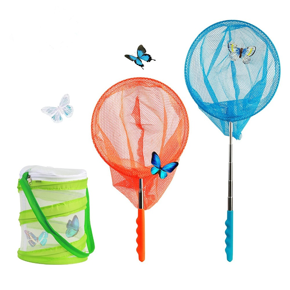 Telescopic Butterfly Net,OR Butterfly Net WITH Pop Up Insect Cage BACK IN STOCK