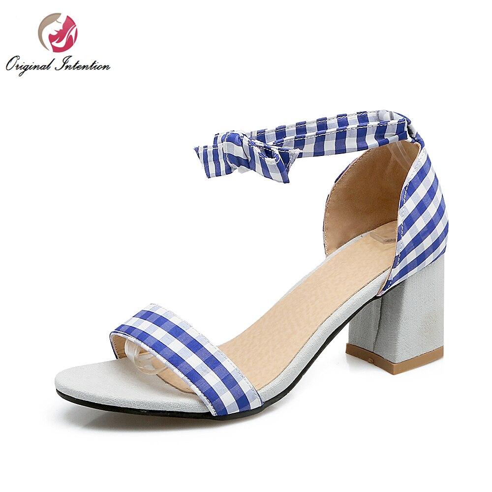 ФОТО Super Cute Women Sandals Fashion Open Toe Square Heels Sandals Beautiful Black Blue Pink Shoes Woman Plus US Size 3.5-14