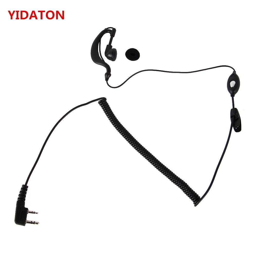 YIDATON Earpiece For Baofeng Walkie Talkie Mic Headset K Type Earphone For UV-5R UV 5R UV-5RE Radio Accessories