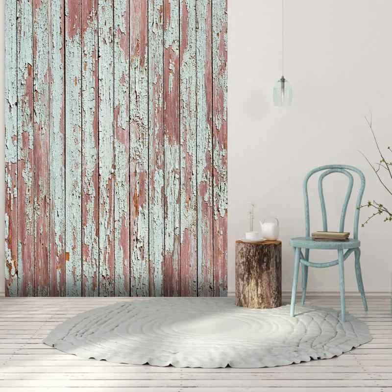 Rétro bois conseil Texture photographie arrière-plan toile de fond tissu bureau Table Studio vidéo Photo accessoires photographiques