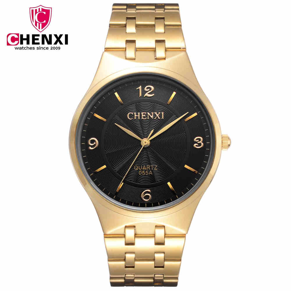 CHENXI Brand Watches Women Steel Bracelet Wristwatches Hot Sale Ladies Quartz Watch Couple Gift For Lovers Golden Clock NATATE smileomg hot sale fashion women woven bracelet watch christmas gift free shipping sep 15