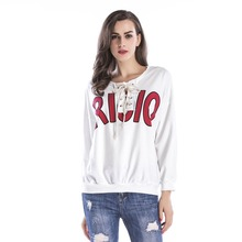 YYFS 2019 Female Loose Tops Sweatshirt  Women Letter Letter Print Round Neck Casual Top Women O-neck Long Sleeve Sweatshirt XL