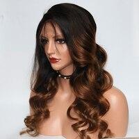 Eversilky 150% плотность Омбре Безглютеновые 360 кружевных фронтальных париков человеческие волосы бразильские девственные волосы парики с волни