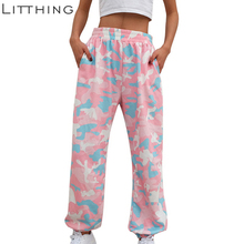 LITTHING 2019 Pink Camouflage Pants Womens Camo Cargo Sweat