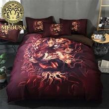 2018 3D leopard print bedding set single double bed cal king queen single size duvet cover set все цены