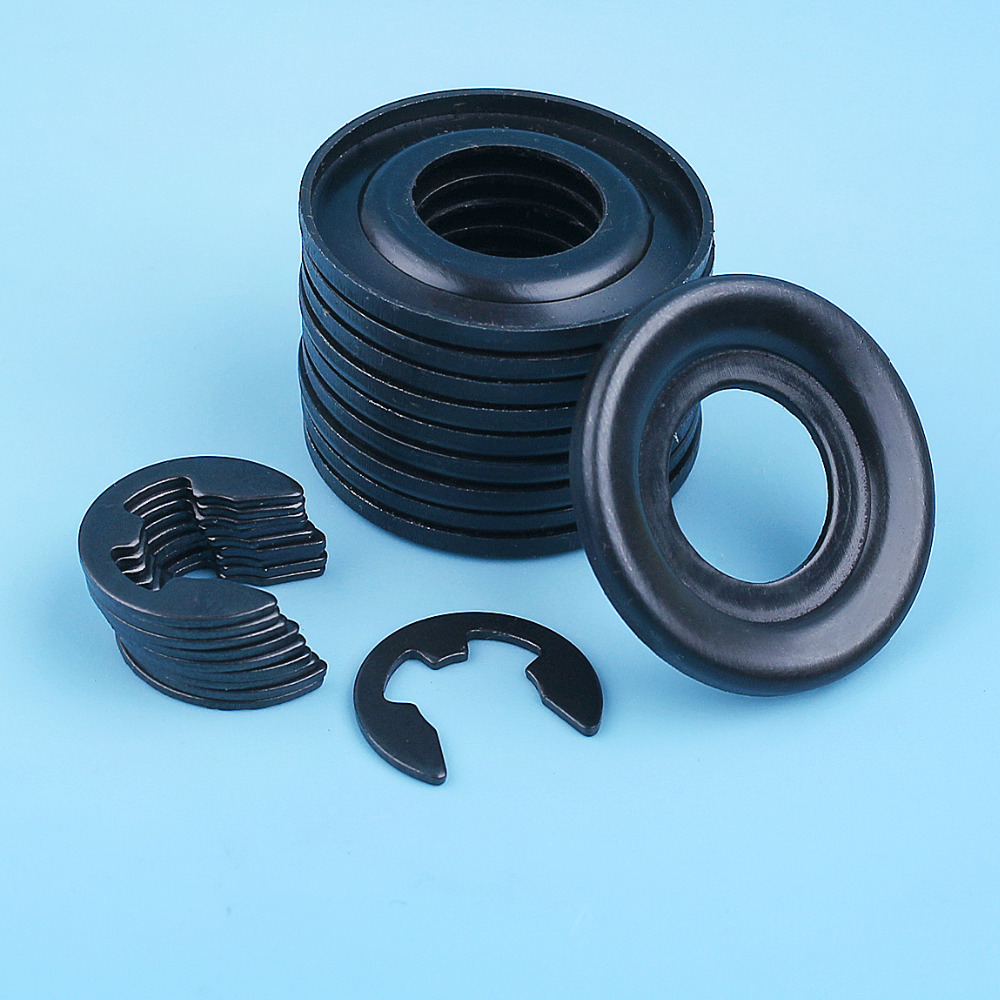 10Set Clutch Washer E-Clip For HUSQVARNA 362 365 371 372 385 390 570 575 576 XP Jonsered 2171 2165 Chainsaw Replace 503 75 24-01