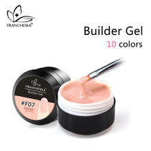 Francheska Builder Gel UV Gel Builder Acrylgel 15 ml Semi-transparent Tips Extension Glue clear camouflage pink white 10 colors(China)
