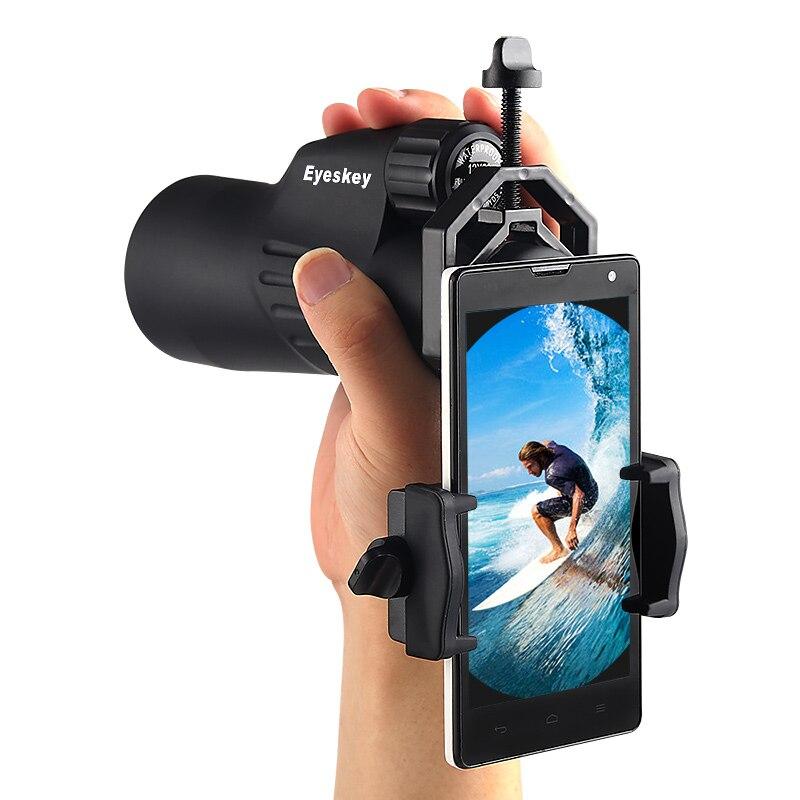 2018 new Mobilephone cellphone adapter for Monocular Spotting Scopes Telescopes Universal Mobile Phone Camera Adapter Binocular