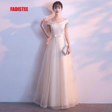 FADISTEE Новое поступление, современное вечернее платье, вечернее платье, Vestido de Festa, роскошное кружевное платье с кристаллами и тюлем, длинное платье для выпускного вечера, стильное платье