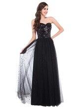 Побрякушки блестками черный синий золото длинные вечерние платья дамы свадебное ну вечеринку платье формальный повод тюль элегантные вечерние платья 3459