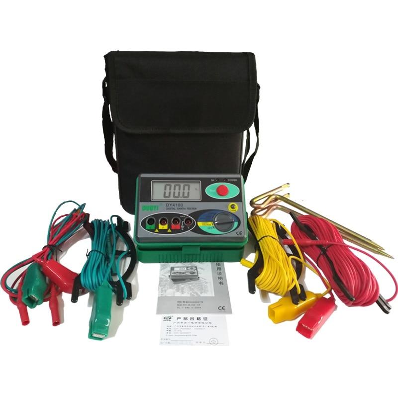 Мегаомметр 0 2000 Ом настоящий цифровой измеритель сопротивления заземления тестер DY4100 инструменты ремонт автомобиля осмотр электрика