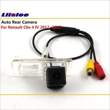 Обратная задняя камера для Renault Clio 4 IV 2012 ~ 2018 подключение оригинальный заводской экран монитор номерного знака световая камера