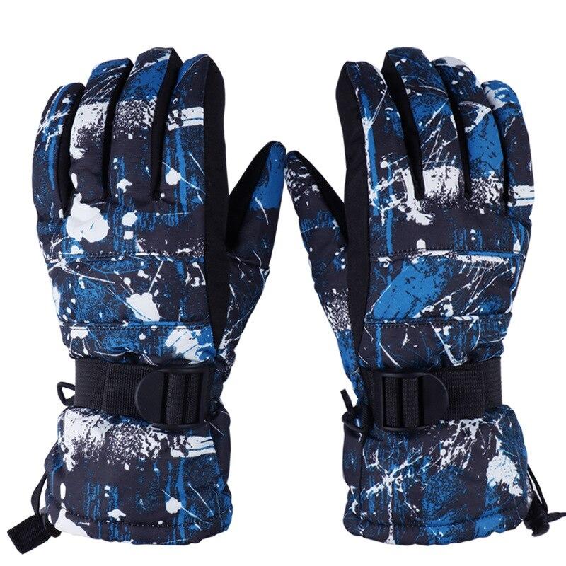 Brand Ski Gloves Men Women Warm Winter Waterproof Windproof Snow Skiing Gloves Motorcycle Riding Sports Snowboard Guantes