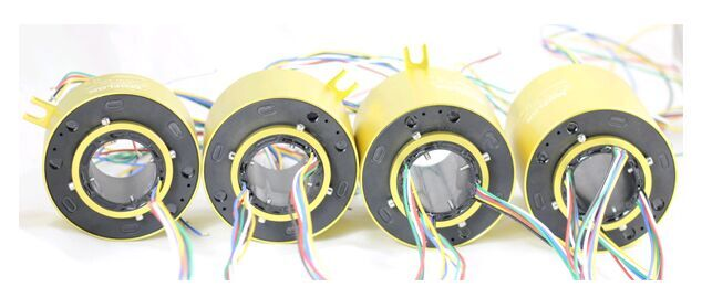MOFLON through bore slipring slip ring with hole hole Diameter60mmxOD130mm 24 wires 10A electric Slip Ring MT60130