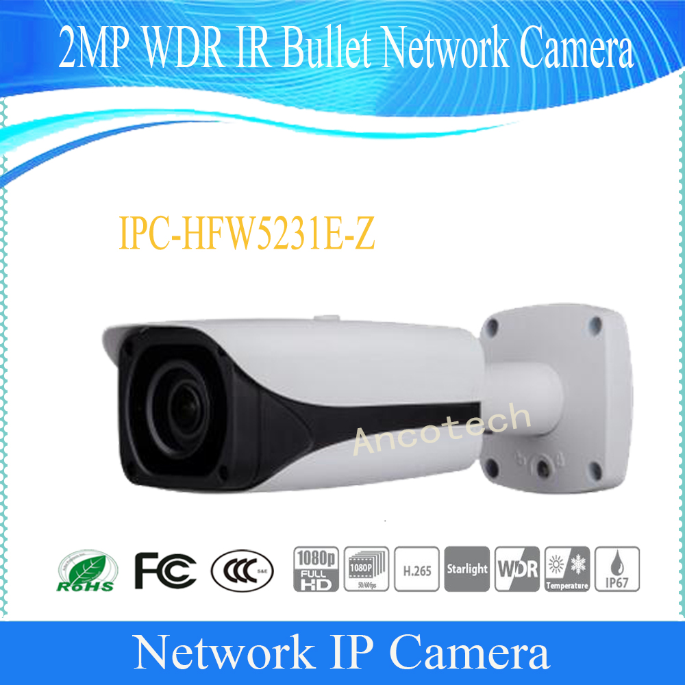 Free Shipping DAHUA Security IP Camera 2MP Full HD WDR Waterproof IR Network Bullet Camera with POE without Logo IPC-HFW5231E-Z free shipping dahua ipc hfw4300s ir hd 1080p ip camera security outdoor 3mp full hd network ir bullet camera support poe