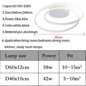 Image 5 - Đèn LED Hiện Đại Đèn Chùm Cho Phòng Khách Phòng Ngủ Phòng Ăn Đèn Ốp Trần Đèn Chùm Ánh Sáng Trắng Đen Đèn LED 110V 220V