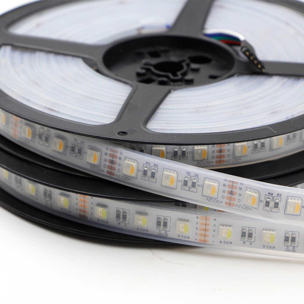 Bande de LED de puce de 5 m 5050 lumière LED RGBW RGBWW 4in1 bande imperméable 60 LED/m 96 LED/m 12 V 24 V rgb bandes de lumière LED de Fita blanc chaud