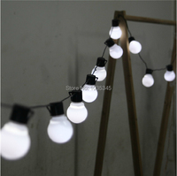 Novelty 5CM Big Size 38 Ball 10M LED String Black Wire LED Starry Lights Christmas Wedding