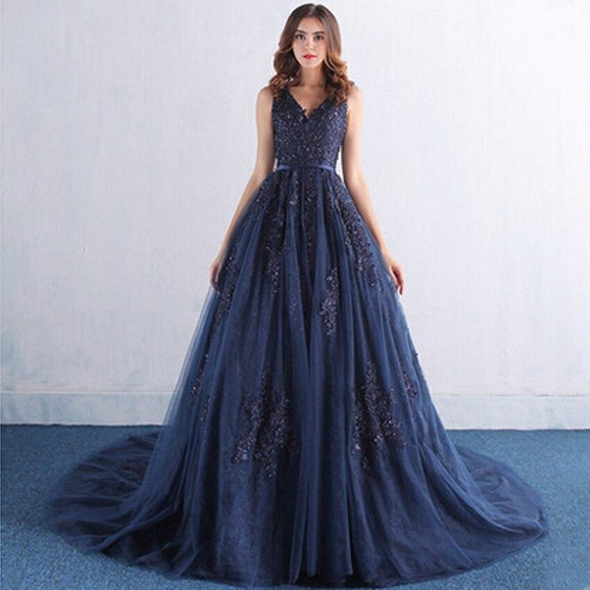 robe de mariage courte 2016 elegant navy blue sexy fashion v neck wedding dress with