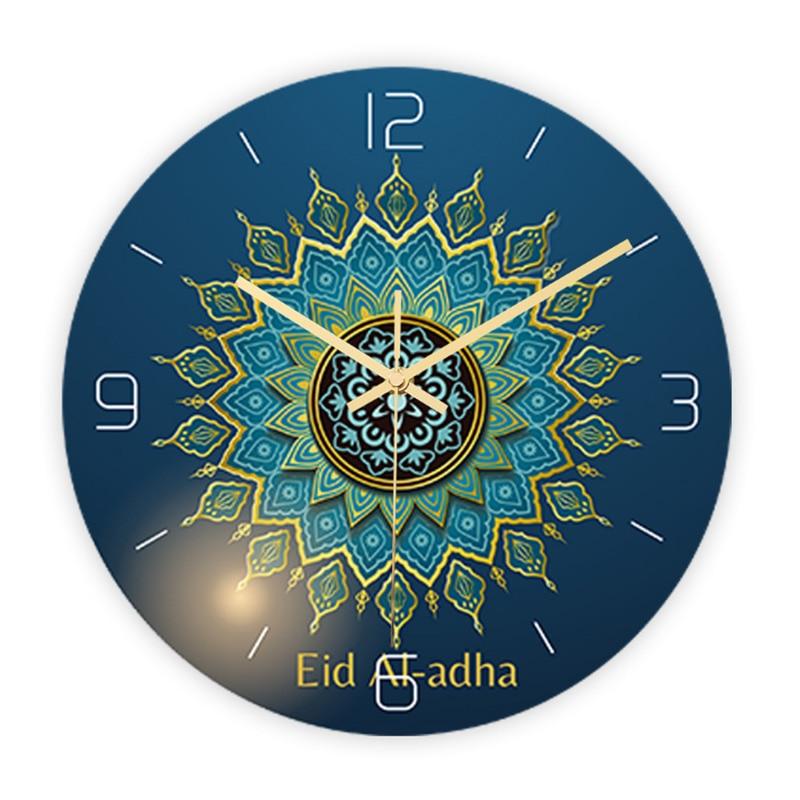 Ramadan Muslim Wall Clock Electronic Frameless 3D Wall Clock Decal Sticker Muslim Ramadan Eid Mubarak Home Decoration