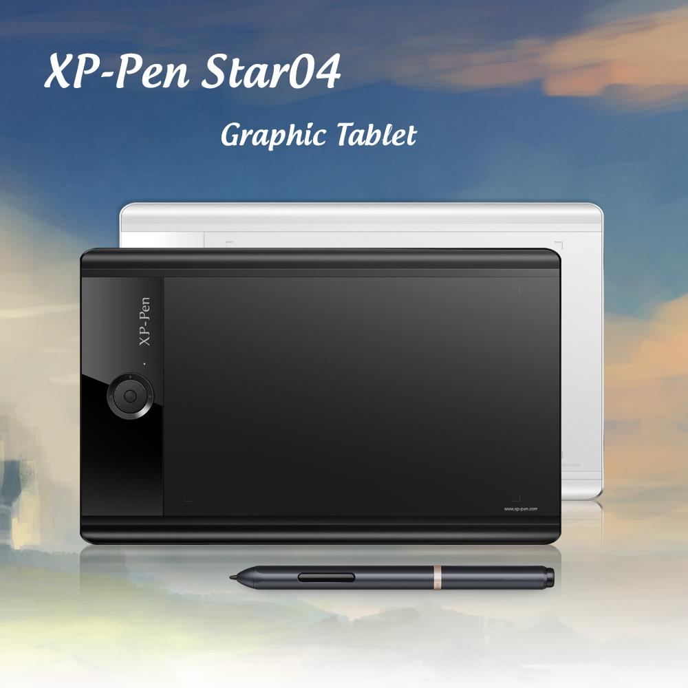 XP-Pen Star04 Passive Stylus 9 x 6 Graphics Tablet/ Drawing Tablet with 8 Express Keys & 8GB Build-in Flash Memory sexy women semi transparent lace high heels new 2017 ladies sequin shoes slip on thin heel pumps free shipping